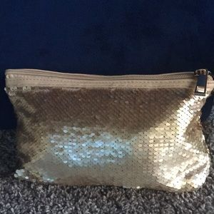 Jivago sequined gold clutch